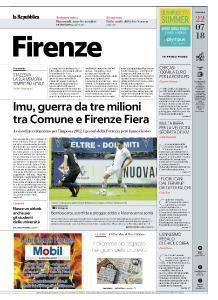 la Repubblica Firenze - 22 Luglio 2018