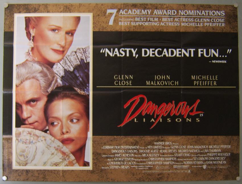 Dangerous Liaisons [Les Liaisons Dangereuses] 1988   Repost
