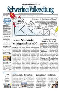 Schweriner Volkszeitung Hagenower Kreisblatt - 06. Dezember 2017