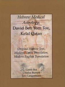 Hebrew Medical Astrology