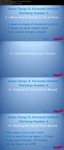 Microsoft Access VBA, Design and Advanced Methods Workshop 4 / AvaxHome