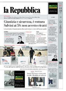 la Repubblica - 7 Novembre 2018