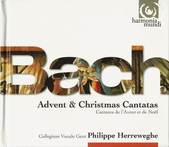 Collegium Vocale Gent, Philippe Herreweghe - J.S. Bach: Advent & Christmas Cantatas (2010)