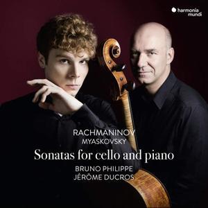 Bruno Philippe & Jérôme Ducros - Rachmaninov & Myaskovsky: Sonatas for Cello and Piano (2019) [Official Digital Download 24/96]