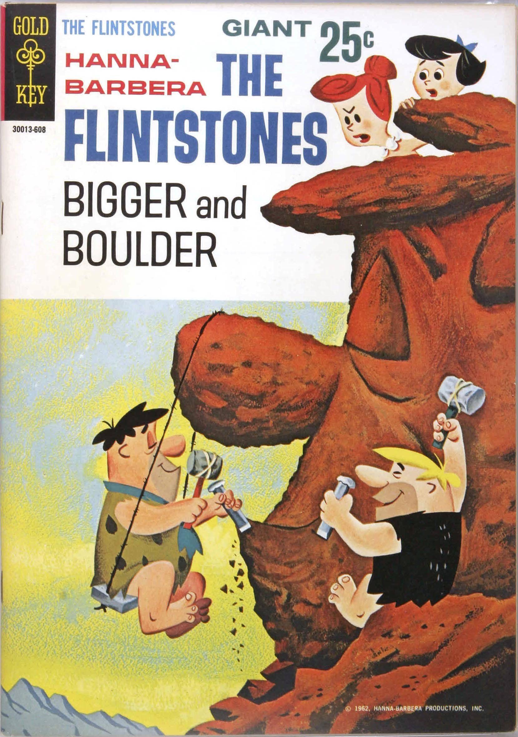 Flintstones Bigger and Boulder 2 Gold Key Aug 1966