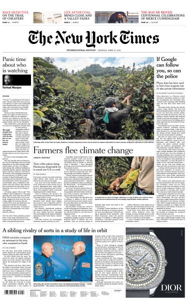 International New York Times - 15 April 2019
