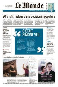 Le Monde du Dimanche 1er et Lundi 2 Juillet 2018