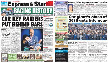 Express and Star Sandwell Edition – September 14, 2018