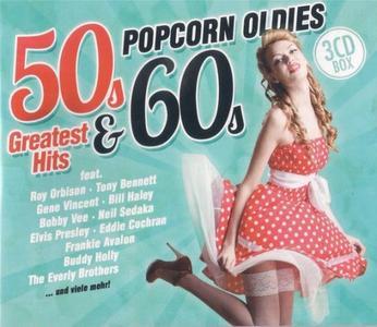VA - 50s & 60s Greatest Hits Popcorn Oldies (3CD, 2017)