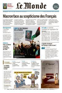 Le Monde du Jeudi 25 Avril 2019