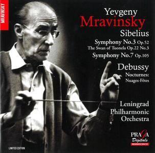 Yevgeny Mravinsky, LPO - Jean Sibelius: Symphony No.3 & No.7, 'The Swan of Tuonela'; Claude Debussy: Nocturnes (2016)