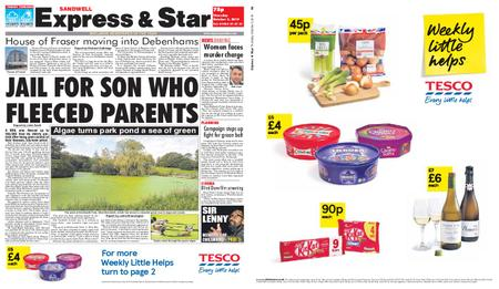 Express and Star Sandwell Edition – October 03, 2019