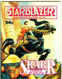 Starblazer 196 - Skarr - Warrior of the Norlands (1987) (PDFrip