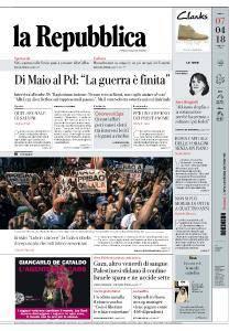 la Repubblica - 7 Aprile 2018