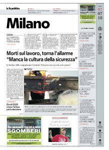 la Repubblica Milano - 7 Luglio 2018