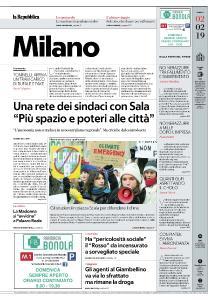 la Repubblica Milano - 2 Febbraio 2019