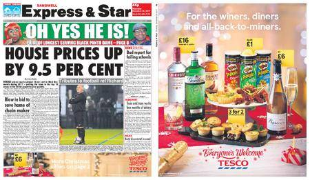 Express and Star Sandwell Edition – December 28, 2017
