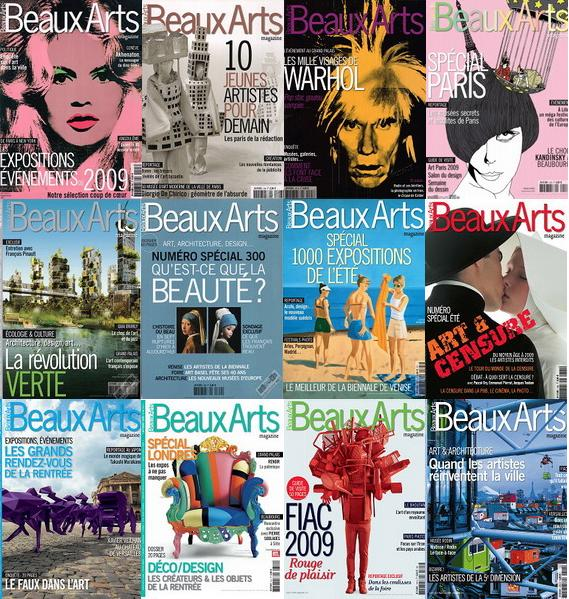 Beaux Arts Magazine January-December 2009 (All Issues)