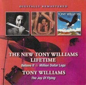 Tony Williams - Believe It (1975) & Million Dollar Legs (1976) / The Joy Of Flying (1979) [2016, 2CDs, Remastered]
