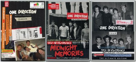 One Direction - The Albums Collection (2012-2014) {Japanese Editions} Re-Up