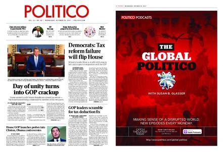 Politico – October 25, 2017