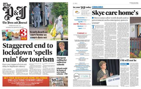 The Press and Journal Moray – May 16, 2020