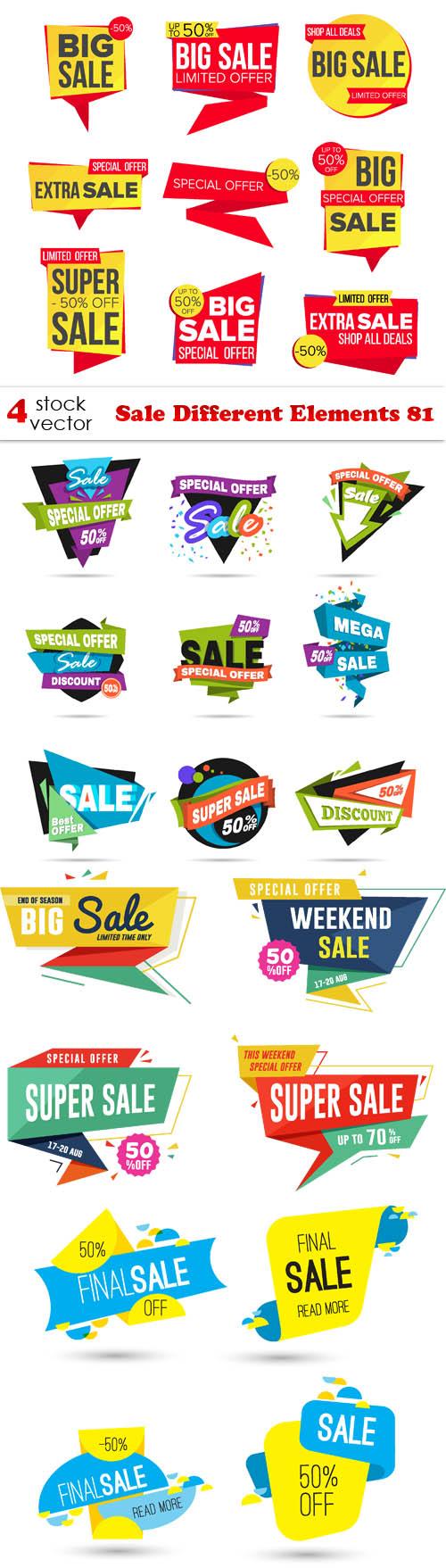 Vectors - Sale Different Elements 81