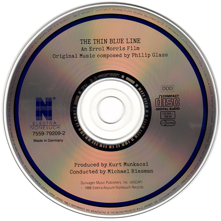 Philip Glass - The Thin Blue Line (1989)