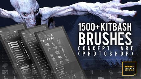 1500+ Kitbash Brushes for Concept Art