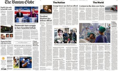 The Boston Globe – February 20, 2020