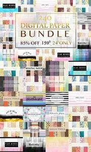 CreativeMarket - Digital paper BUNDLE