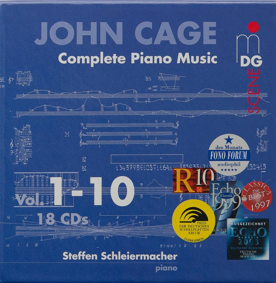 John Cage - Complete Piano Music, Vols. 1-10 - Steffen Schleiermacher (2004) {18CD Set MDG 613 1731-2 rec 1997-2002}