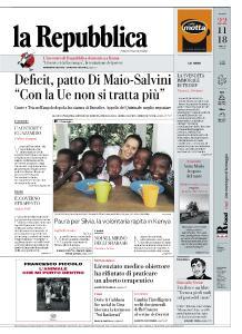 la Repubblica - 22 Novembre 2018