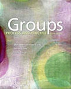 Groups: Process and Practice 10th Edition