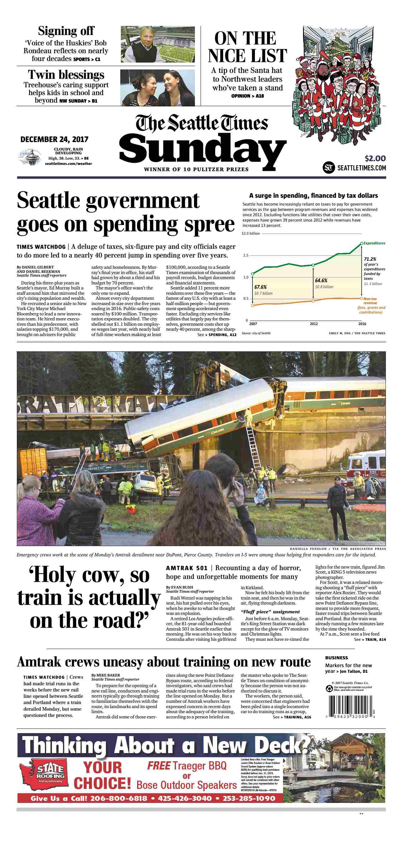 The Seattle Times  December 24 2017