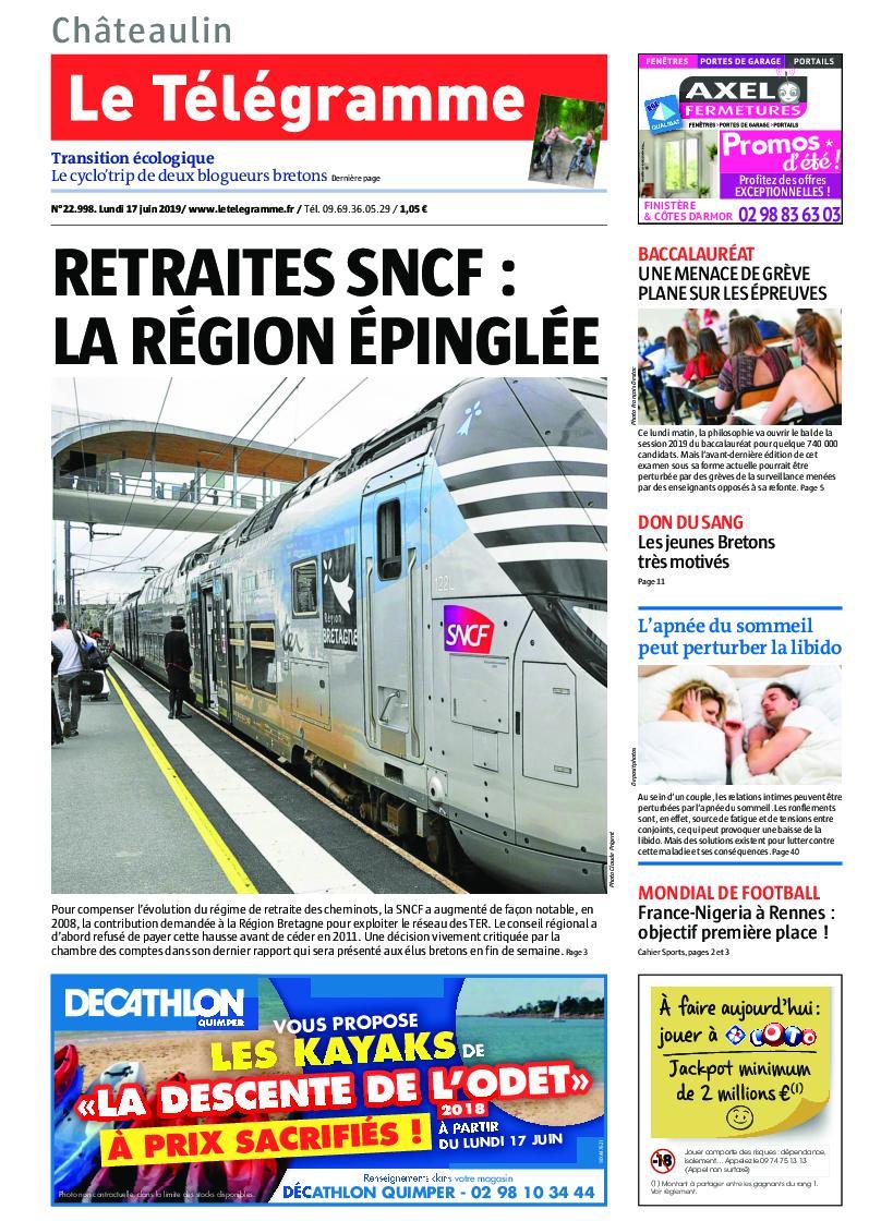 Le Télégramme Châteaulin – 17 juin 2019