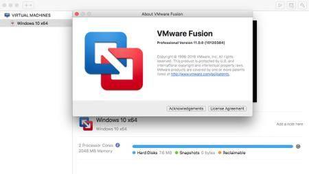 VMware Fusion Pro 11.0.1 macOS