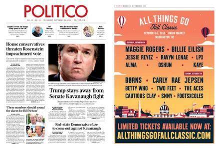 Politico – September 26, 2018