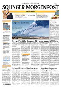 Solinger Morgenpost – 27. Dezember 2018