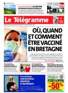 Le Télégramme Quimper – 16 janvier 2021