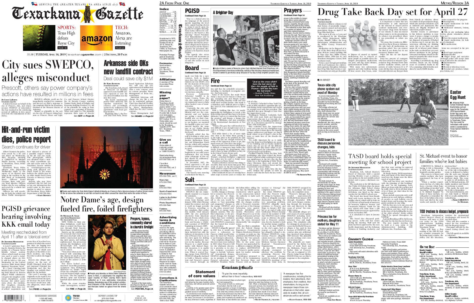 The Texarkana Gazette – April 16, 2019