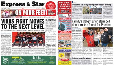 Express and Star City Edition – March 13, 2020
