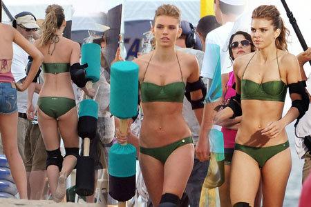 Anna Lynne McCord - bikini on set of 90210 in LA August 8, 2011