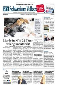 Schweriner Volkszeitung Hagenower Kreisblatt - 01. Oktober 2019