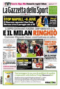 La Gazzetta dello Sport Roma – 29 ottobre 2018