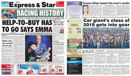 Express and Star City Edition – September 14, 2018