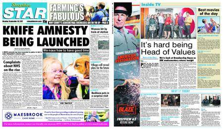 Shropshire Star Shrewsbury Edition – September 18, 2017