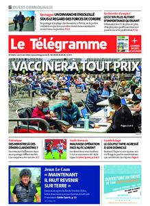 Le Télégramme Ouest Cornouaille – 05 avril 2021