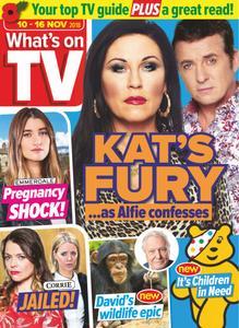 What's on TV - 10 November 2018