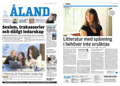 Ålandstidningen – 26 februari 2019